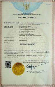 sertifikat merek biomaster